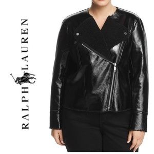 NWT MICHAEL KORS Faux Leather Motorcycle Jacket